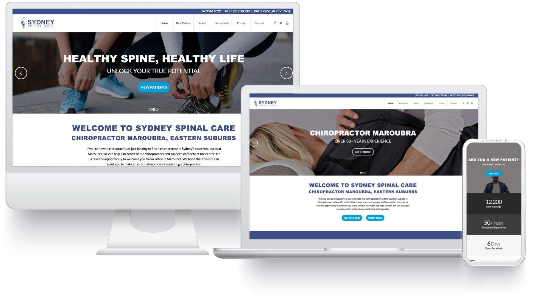 websites for chiropractors